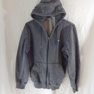 NIKE Women's Gray Drawstring Hoodie Size Small